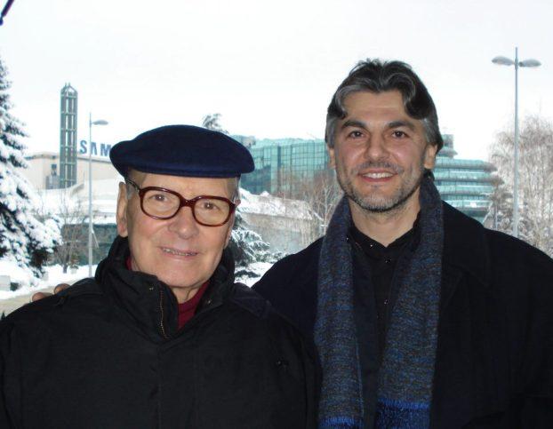 С Енио Мориконе в Белград през 2009 г. Снимка: Ana Veskov