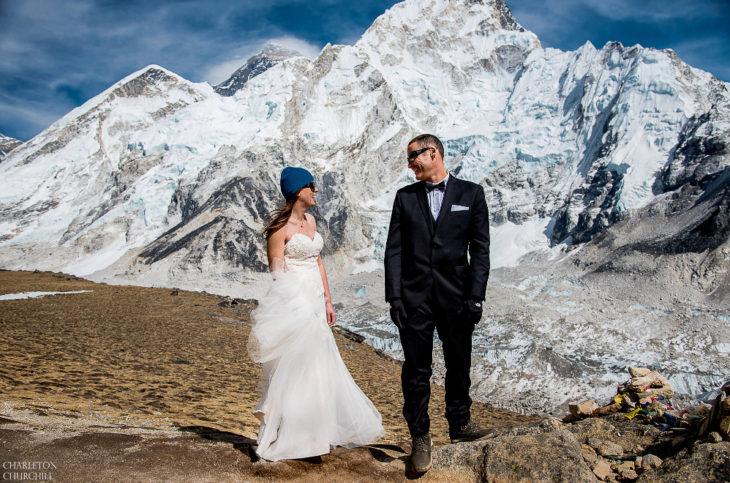 Еверест - сватбена фотосесия