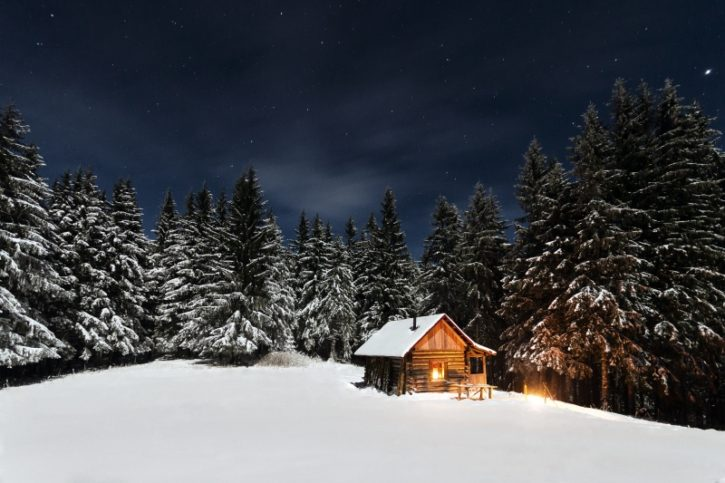 хижа - зимата