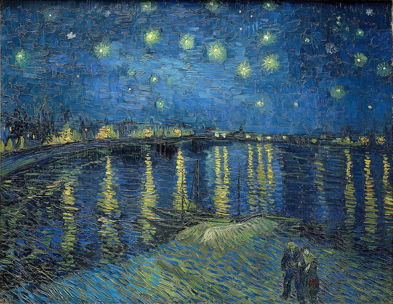 Звездна нощ над Рона (1888) на Винсент ван Гог