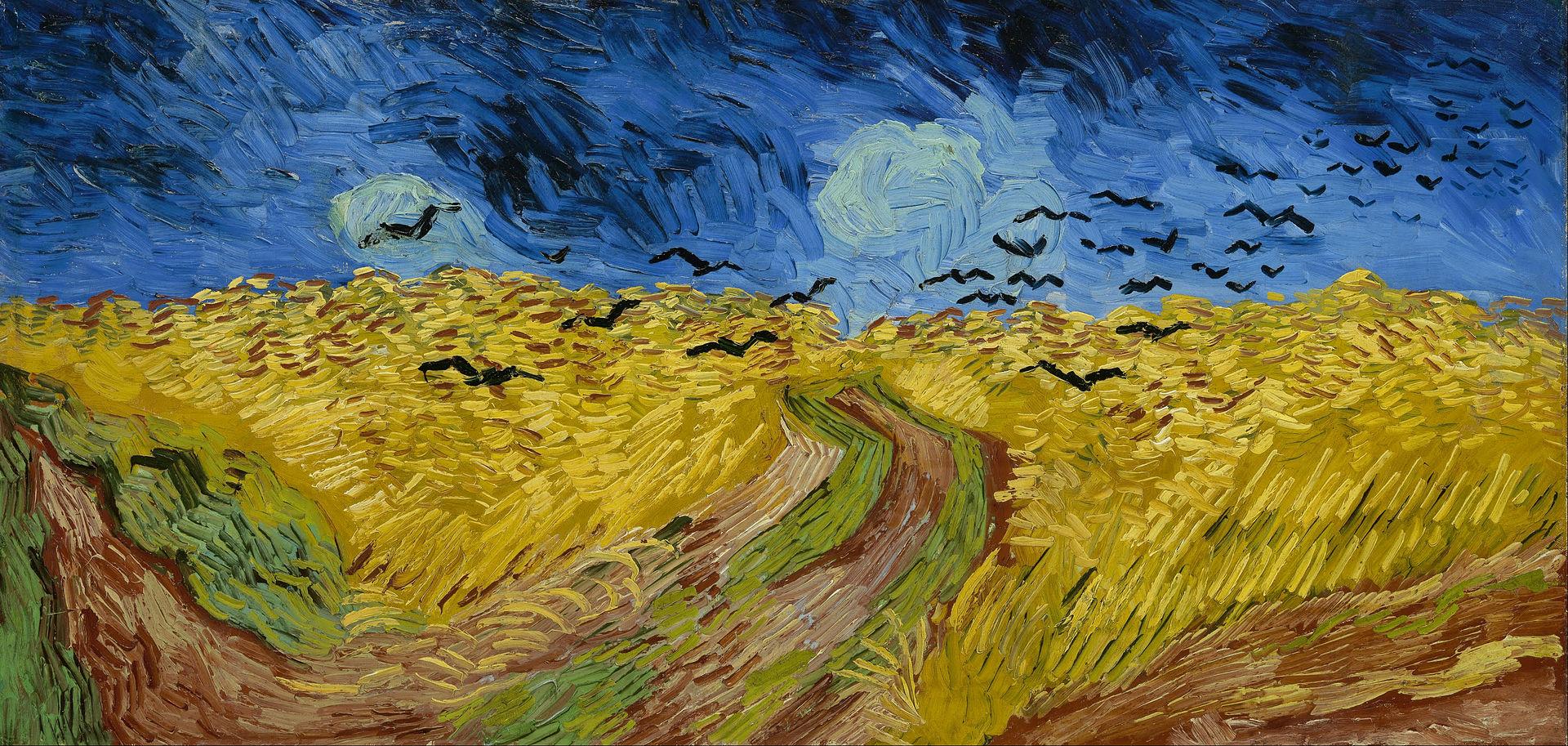 Житно поле с врани (1890) на Винсент ван Гог