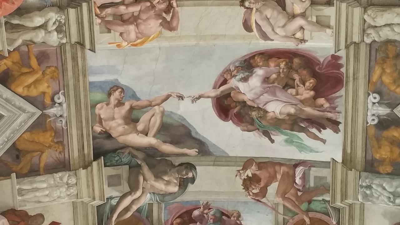 Сикстинската капела Сътворението Микеланджело