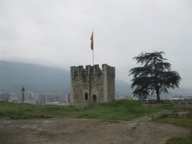 Крепостта с гледка към Водно