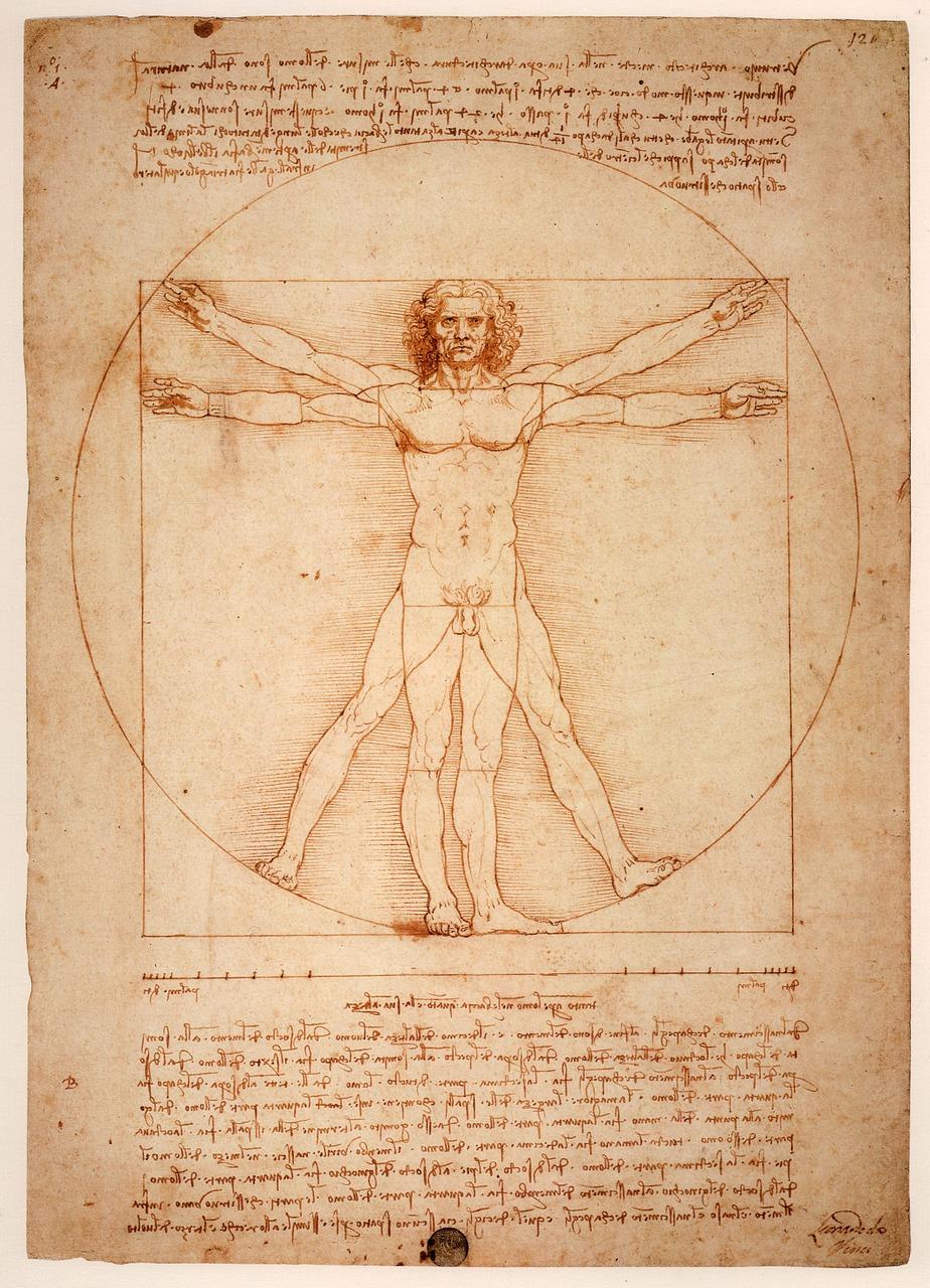 Витрувианският човек на Леонардо да Винчи