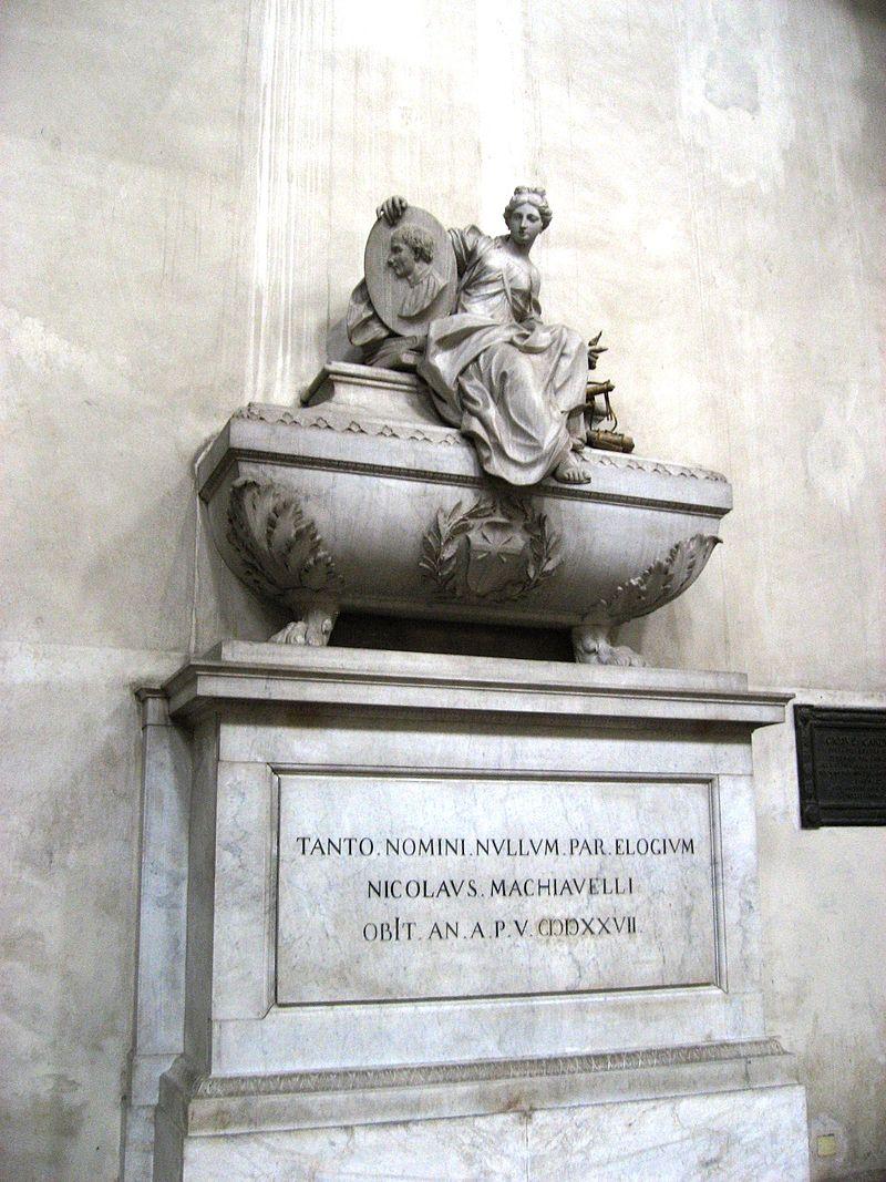гробът на Николо Макиавели