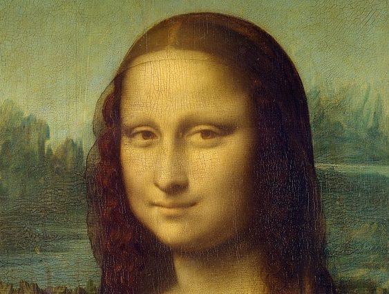 Усмивката на Мона Лиза.