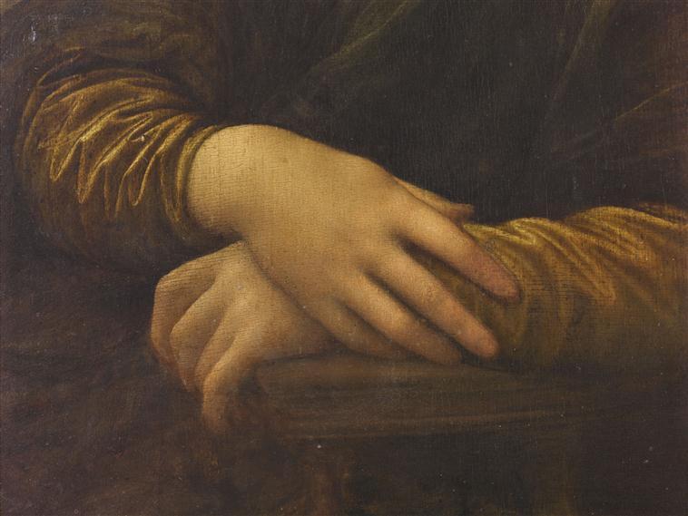 Ръцете на Мона Лиза от Леонардо да Винчи.