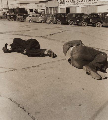 Скид роу в Модесто, Калифорния, 1937 г.