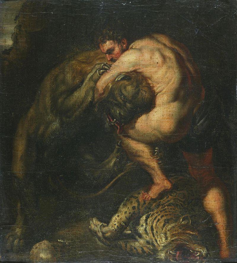 Херакъл побеждава Немейския лъв - Петер Паул Рубенс