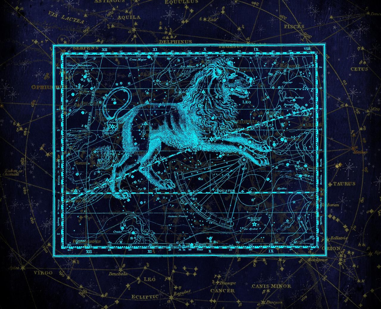 карта съзвездие зодия лъв