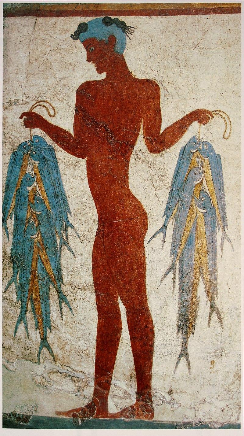 Фреска на рибар от Акротири