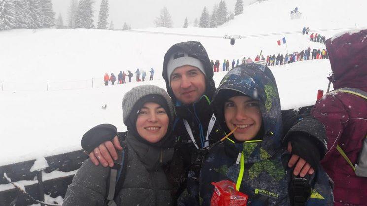 ПО време на Световната купа по биатлон в Хохфилцен през 2017г. Любим спорт на цялото семейство.