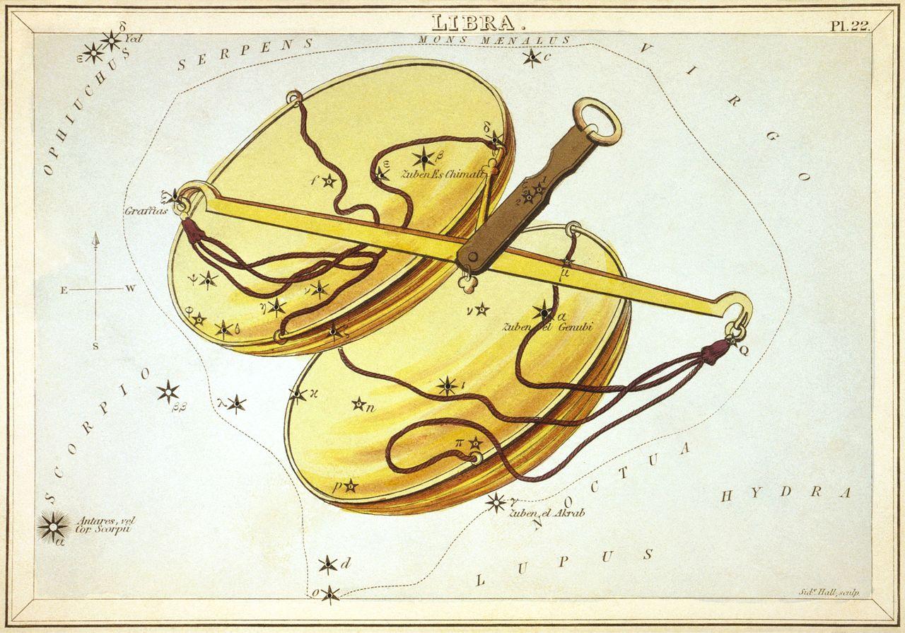 Изображение на съзвездието Везни