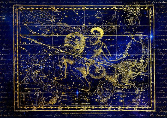 Водолей съзвездие карта