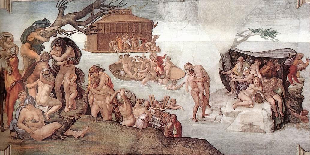 Потопът, Микеланджело
